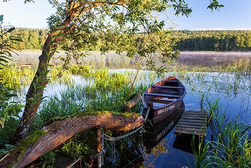 Łódka jezioro Wadąg