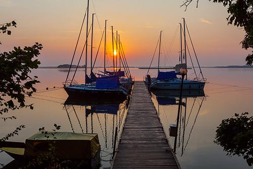 Mazury jezioro Mamry
