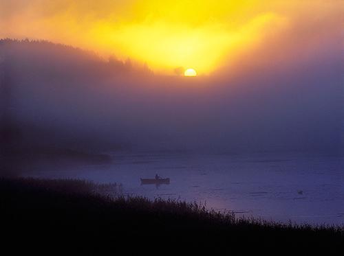 Mazury, wschód słońca