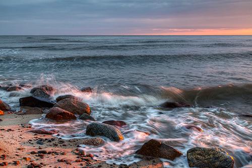 Bałtyk wschód słońca