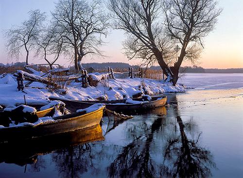 Mazury, ujście rzeki Sapiny
