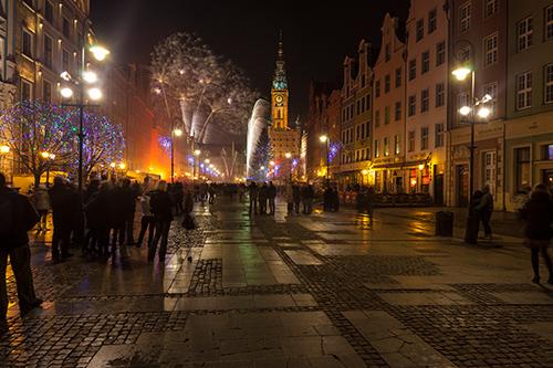 Noc sylwestrowa w Gdańsku