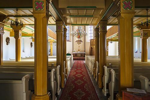 Olsztyn, kościół ewangelicki, wnętrze