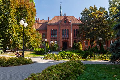 Olsztyn, skwer przy Liceum Ogólnokształcącym nr 1
