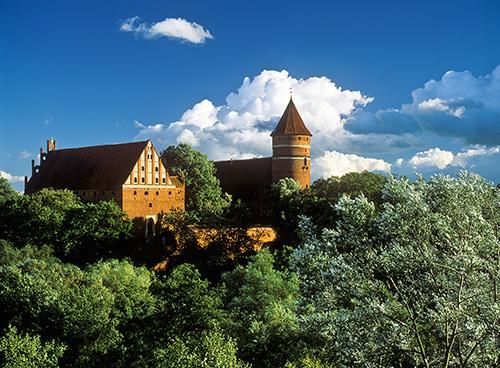 Olsztyn, panorama z zamkiem
