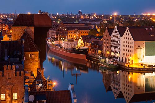 Gdańsk, statek Sołdek na Motławie