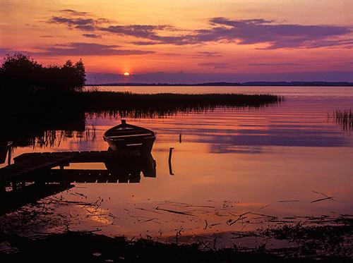 Jezioro Śniardwy łódka