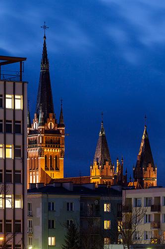 Olsztyn wieża kościoła NSPJ