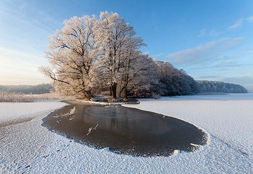 Warmia i Mazury zimą