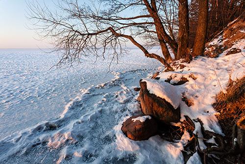 Śniardwy zimą