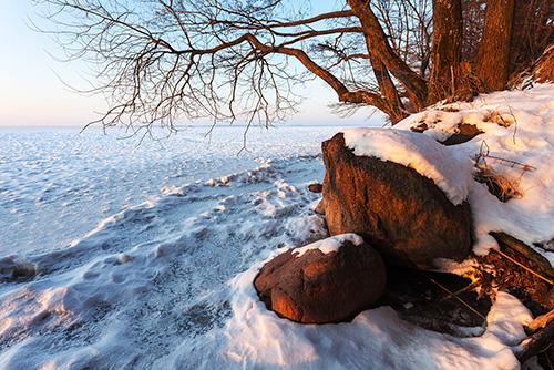 Jezioro Śniardwy zimą