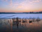 Warmia i Mazury, świt nad jeziorem