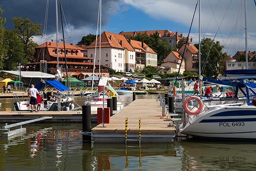 Ryn, port i zamek
