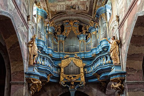 Jędrzejów, kościół cysterski, organy