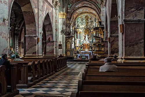 Jędrzejów, kościół cysterski, wnętrze