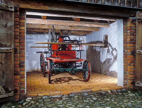 Olsztynek, wóz strażacki