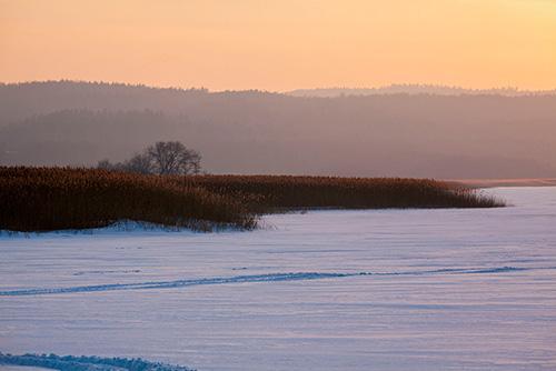 Zalew Wiślany zimą