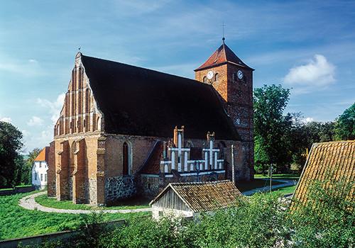 Barciany kościół gotycki