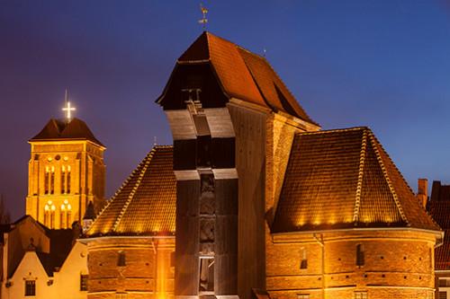 Gdańsk Żuraw nocą