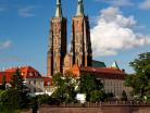 Wrocław katedra zza Odry