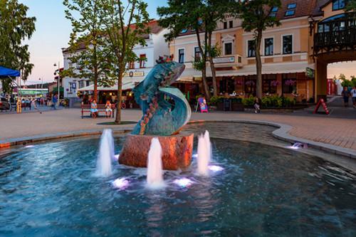 Mikołajki fontanna
