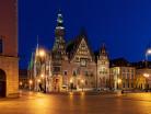 Wrocław ratusz nocą