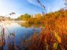 Jezioro w jesiennych barwach